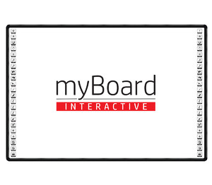 "Tablica interaktywna dotykowa myBoard BLACK 90"" Ceramic PANORAMA"